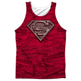 Tank Top: Superman- Super Powers Black Back Tank Top