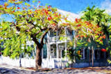 Kew West Cottage - In the Style of Oil Painting Giclee Print by Philippe Hugonnard