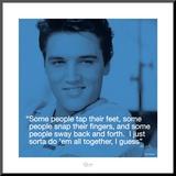 Elvis Presley: Sway Mounted Print
