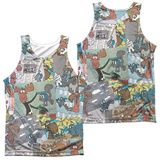 Tank Top: Rocky & Bullwinkle- Collage (Front/Back) Tank Top
