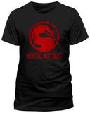 Mortal Kombat - Distressed Logo Tshirt