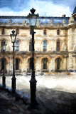 Street Royal Lamps Le Louvre Giclee Print by Philippe Hugonnard