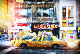 Liquors Taxi - In the Style of Oil Painting Giclee Print by Philippe Hugonnard