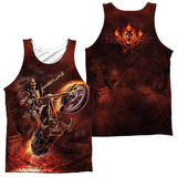 Tank Top: Anne Stokes- Hellrider (Front/Back) Tank Top
