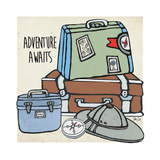 Travel-Adventure Awaits Poster by Shanni Welsh