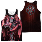 Tank Top: Anne Stokes- Gothic Guardian (Front/Back) Tank Top