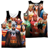 Tank Top: Jla- Wall Of Heroes (Front/Back) Tank Top