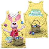 Tank Top: Here Comes Peter Cottontail - Basket Of Eggs (Front/Back) Tank Top