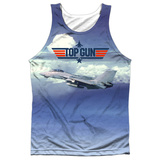 Tank Top: Top Gun- Take Off Black Back Tank Top
