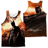 Tank Top: Dark Knight Rises- Fire Poster (Front/Back) Tank Top