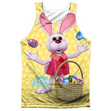 Tank Top: Here Comes Peter Cottontail- Basket Of Eggs (Black Back) Tank Top