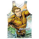 Tank Top: Aquaman- Rough Seas Tank Top