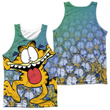 Tank Top: Garfield- Goofy Face (Front/Back) Tank Top