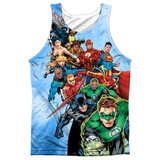 Tank Top: Justice League- Hero Charge Tank Top
