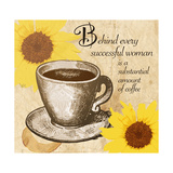 Coffee 'N Sunflowers II Poster by Kari Brooks