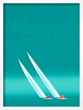 Duel ('92-blue America's Cup) Posters by Keith Reynolds