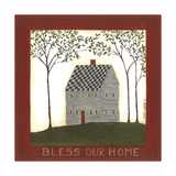 Bless Our Grey House Art by Cindy Shamp