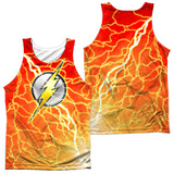 Tank Top: The Flash- Lightning Logo (Front/Back) Tank Top