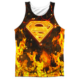 Tank Top: Superman- Fire Logo Tank Top