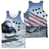 Tank Top: Air Force- Pilot (Front/Back) Tank Top