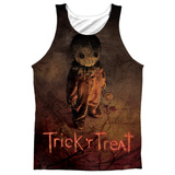 Tank Top: Trick R Treat- Trick Poster Black Back Tank Top