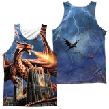 Tank Top: Anne Stokes- Dragon's Fury (Front/Back) Tank Top