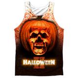 Tank Top: Halloween Ii- Pumpkin Skull Tank Top