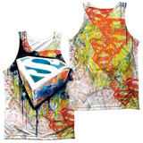 Tank Top: Superman- Urban Shields (Front/Back) Tank Top