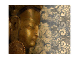 Golden Buddha I Print by Kari Brooks