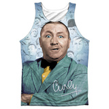 Tank Top: The Three Stooges- Curly Heads Black Back Tank Top