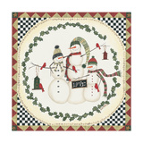 Joy Snowmen Prints by Cindy Shamp