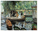 La Grenouillere, 1869 Plakater af Pierre-Auguste Renoir