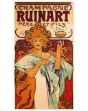 Champagne Ruinart Père et Fils. Rheims (1896) Prints by Alphonse Mucha