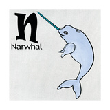 N Narwhal Posters by Shanni Welsh