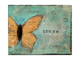 Yellow Brave Butterfly Prints by Cassandra Cushman