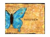 Blue Butterfly Print by Cassandra Cushman