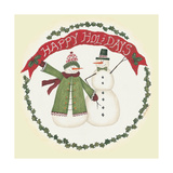 Happy Holidays Snowmen Posters by Cindy Shamp