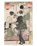 Girls under a Wisteria Espalier (1795) Print by Kitagawa Utamaro