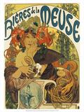 Bières de la Meuse, 1897 Prints by Alphonse Mucha
