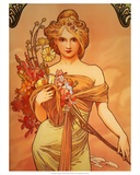 Spring, 1896 Posters by Alphonse Mucha