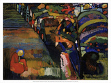 Painting with Houses, 1909 Poster by Wassily Kandinsky