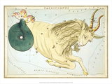 Urania's Mirror, Capricorn, 1825 Prints by Sidney Hall