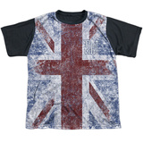 Youth: The Who- Distressed Union Jack Black Back T-shirts