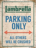 Lambretta Parking Only Plåtskylt