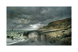 La Pointe de la Heve at Low Tide Premium Giclee Print by Claude Monet