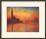 San Giorgio Maggiore by Twilight, c.1908 Print by Claude Monet