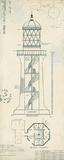 Lighthouse Plans I Affiches par  The Vintage Collection