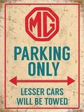 MG Parking Only Blikskilt