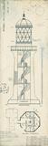 Lighthouse Plans I Lámina giclée por The Vintage Collection