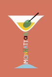Stylish Cocktails - Manhattan Prints by Sophie Ledesma